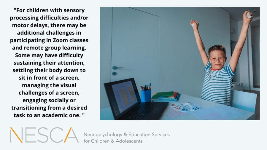 Sensory and Motor Strategies to Support Online Learning