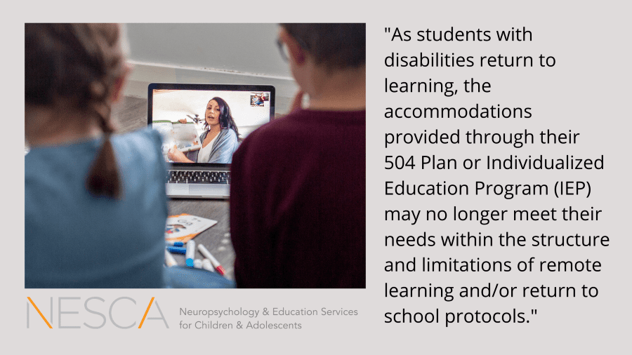 Adapting Academic Accommodations for Return to Learning