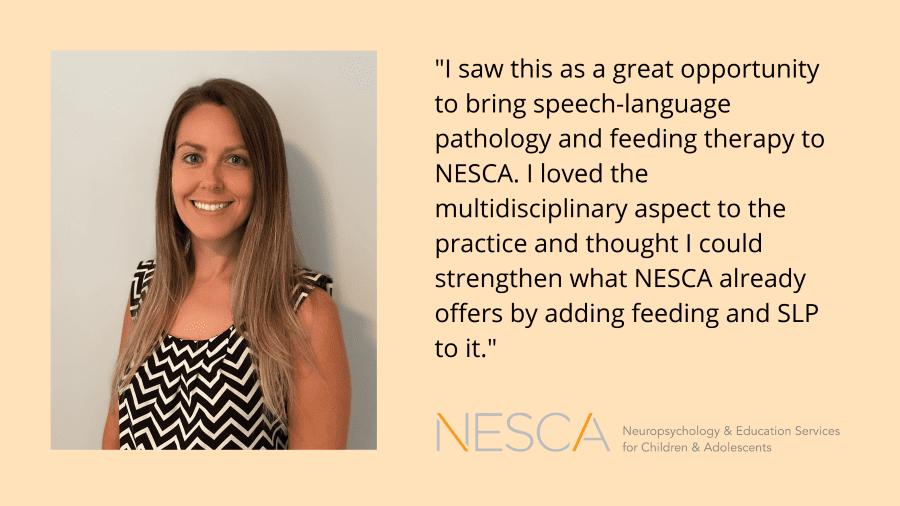 Meet Abigael Gray, NESCA's Speech-Language Pathologist & Feeding Specialist