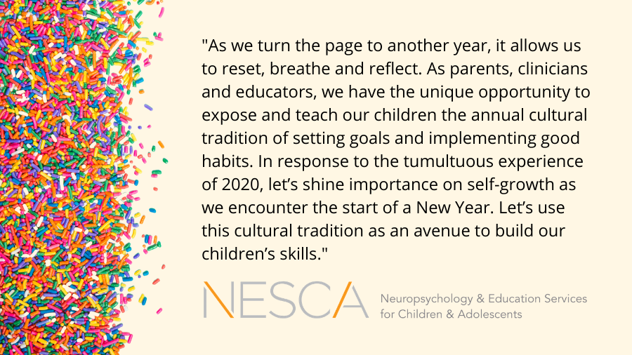 New Year's Goals and Social-Emotional Learning: Sprinkling Skill Building into an Age-old Tradition