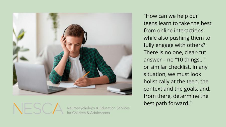Teens Online: Participation vs. Observation