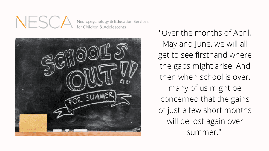 Mind the Gap: Why You Should Consider Summer OT and Speech Services at NESCA