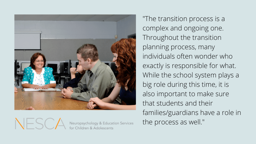 The Roles of Students, the School and the Family during the Transition Planning Process