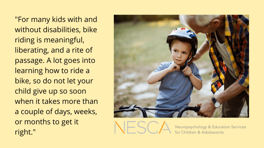 Learning to Ride a Bike: A Rite of Passage