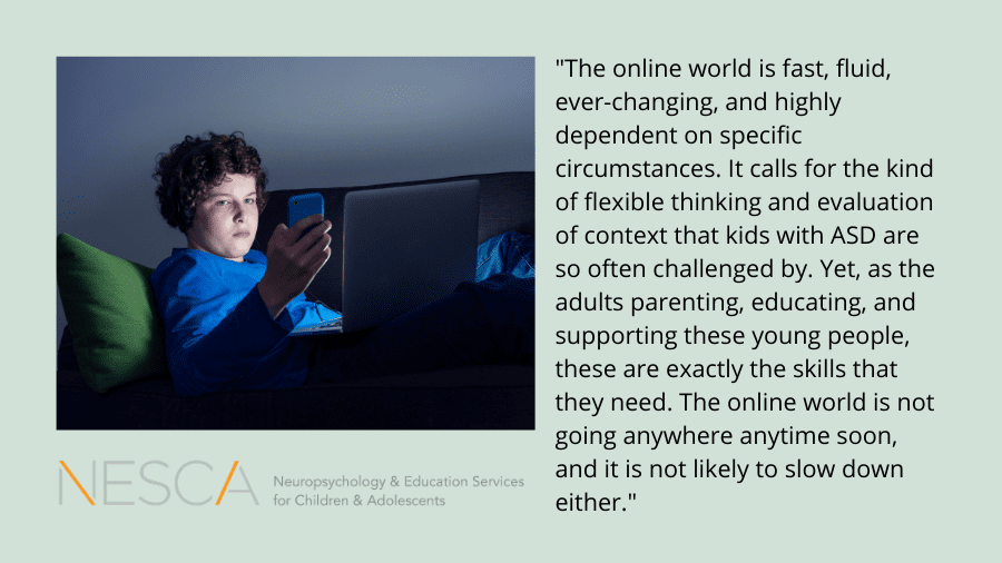 Cyberbullying and Autism Spectrum Disorders