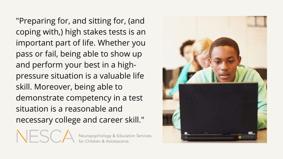 Why Taking Competency Tests, like the MCAS, can be Critical for Transition and College Planning
