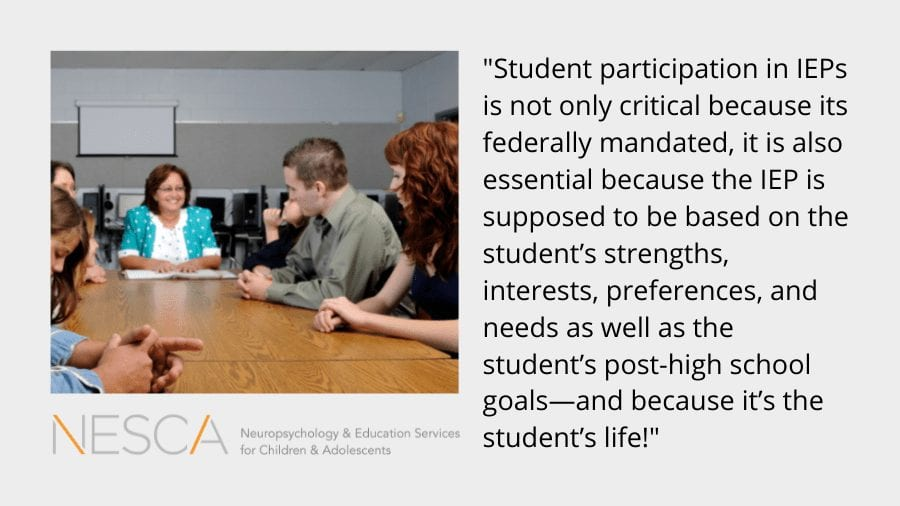 Student Involvement in IEPs: Ten Tips to Help Middle School Students Get Started – Part 1