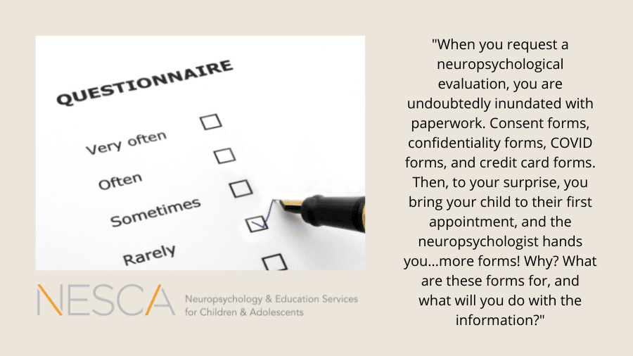 Rating Scales/Questionnaires – Why Do We Give Them and Why Do They Matter?
