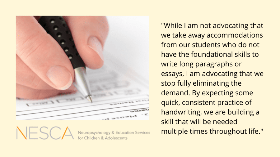 Handwriting vs. Typing: Where do we draw the line?