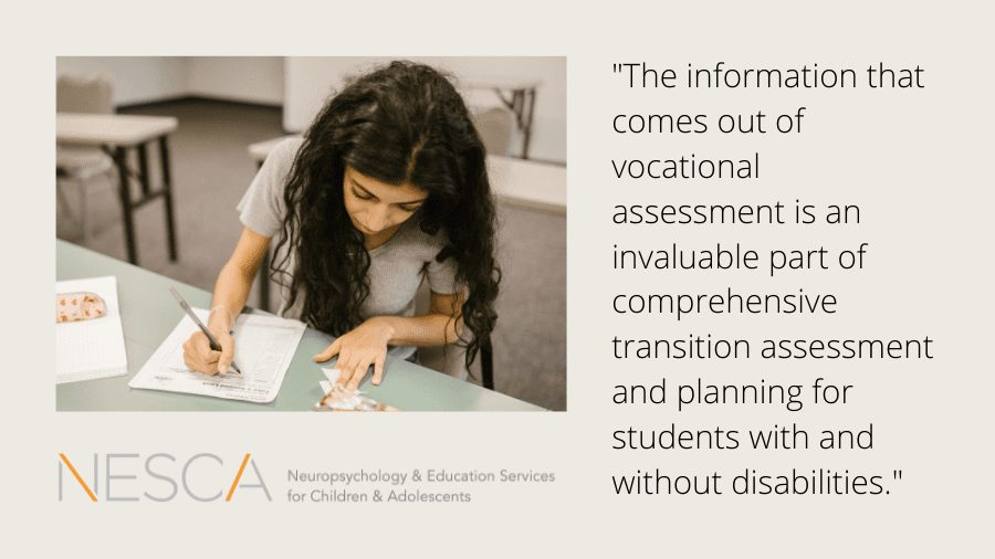 Vocational Assessment and Transition Planning